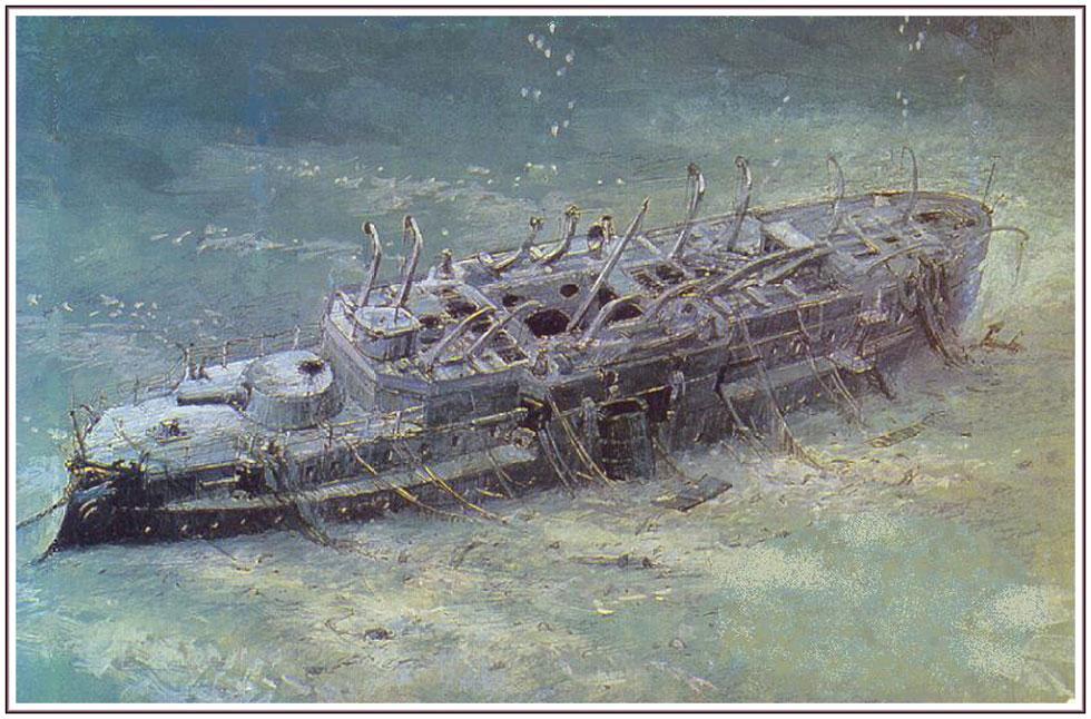 часовня возле подводной лодки