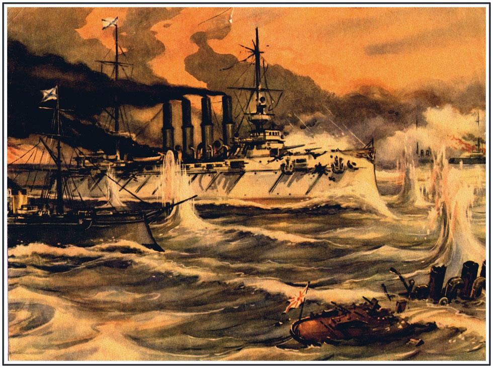 Лодка в бою у чемульпо