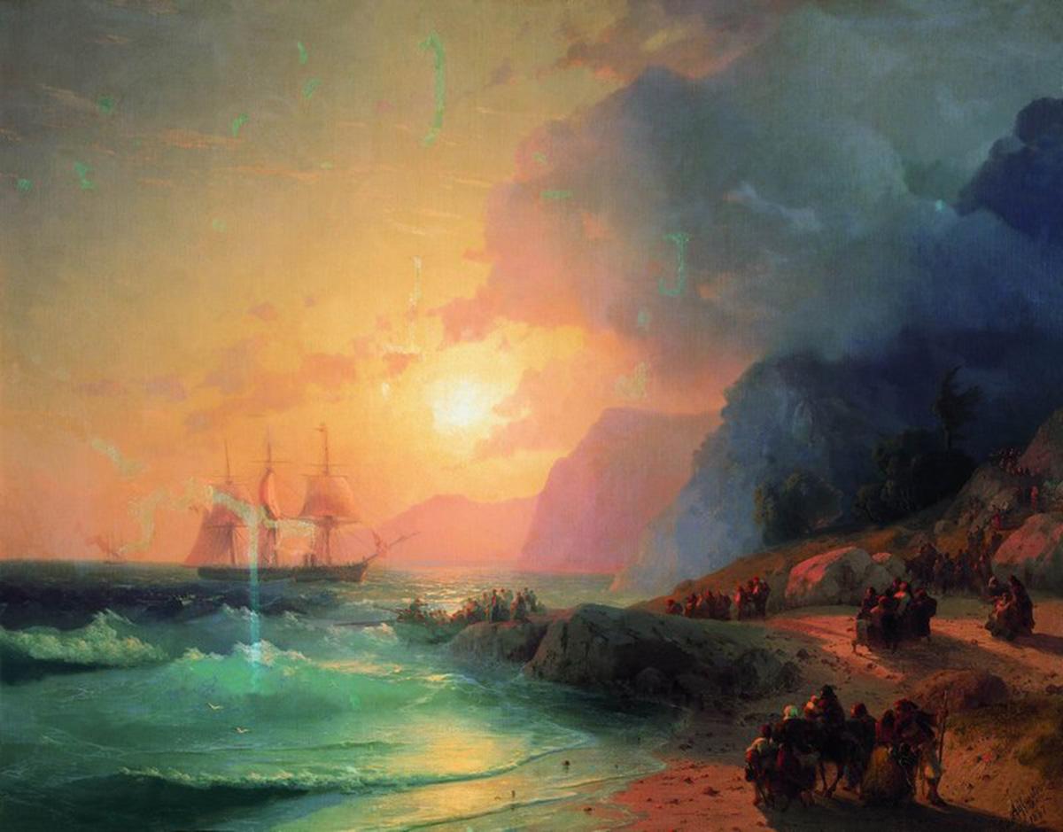 Иван Константинович Айвазовский картина 1867 года 'На острове Крит' .
